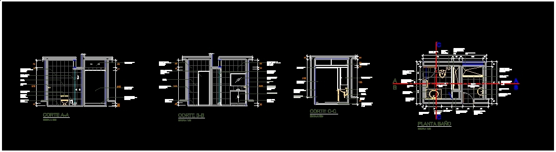 Development bathroom dwg section for autocad designscad - Cad bathroom design ...