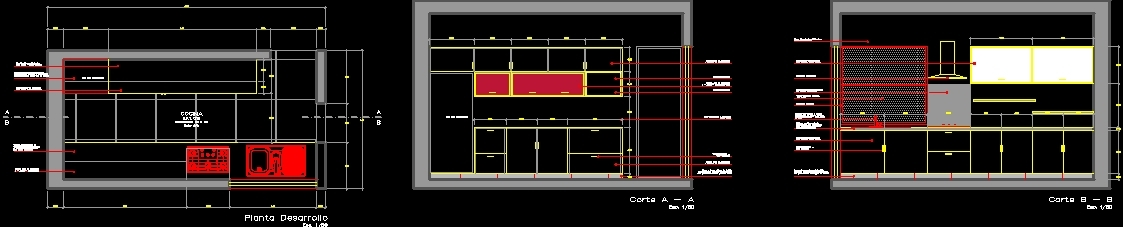 Development Kitchen Dwg Block For Autocad Designs Cad