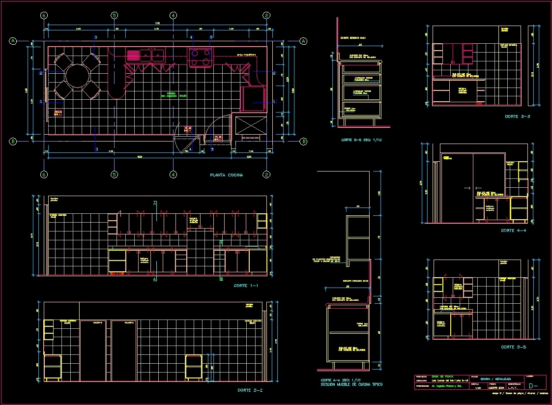 Development Of Kitchen Dwg Block For Autocad Designs Cad