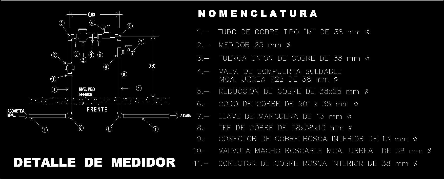 3d cad residential water meter model - File Type Dwg