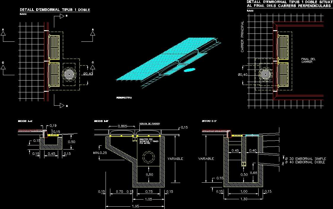 Drainage Grill Dwg Section For Autocad Designs Cad