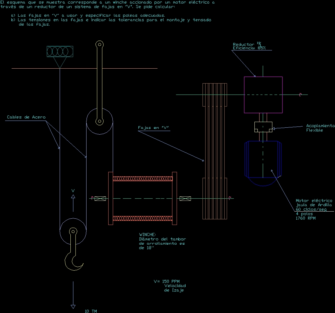 Electric Crane Dwg Section For Autocad Designs Cad Schematic Additional Screenshots