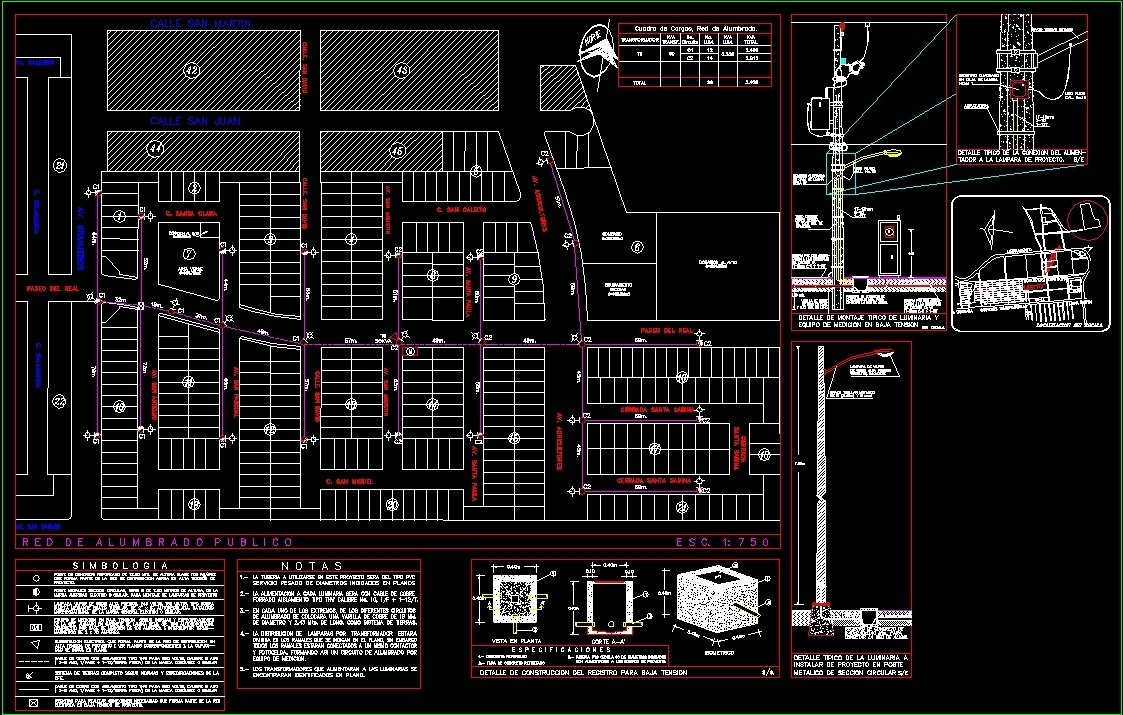 Electric Project Of A Subdivision Dwg Full Project For