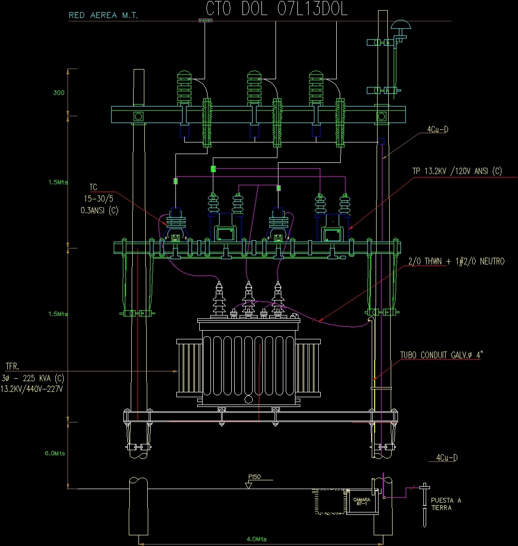 Electric Transformer 440 227v Dwg Block For Autocad Designs Cad Electrical Drawing Additional Screenshots