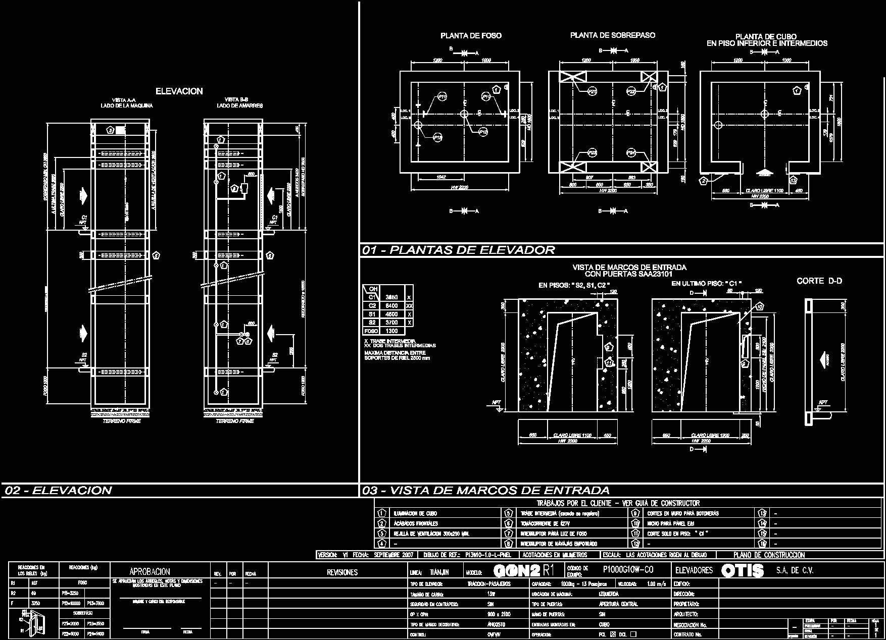 Elevator Specifications Dwg Block For Autocad Designscad