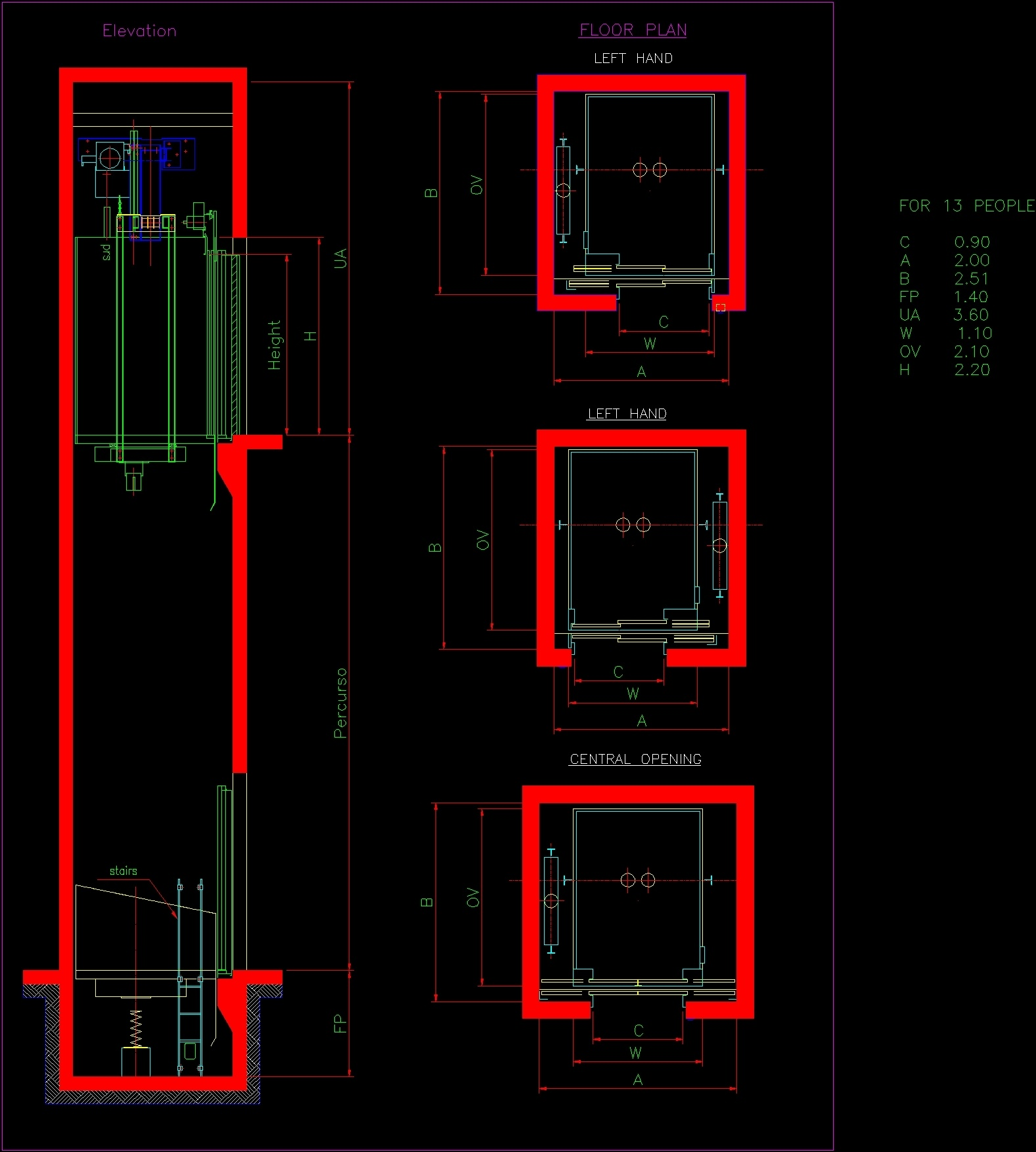 elevator details dwg detail for autocad  u2013 designs cad