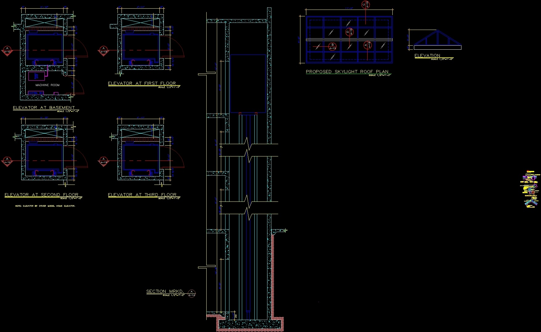 Elevator In Residential Building Dwg Plan For Autocad
