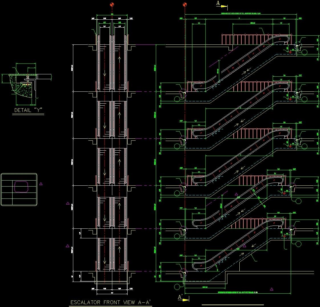 Escalator 35 Dwg Detail For Autocad Designs Cad Schematic Additional Screenshots