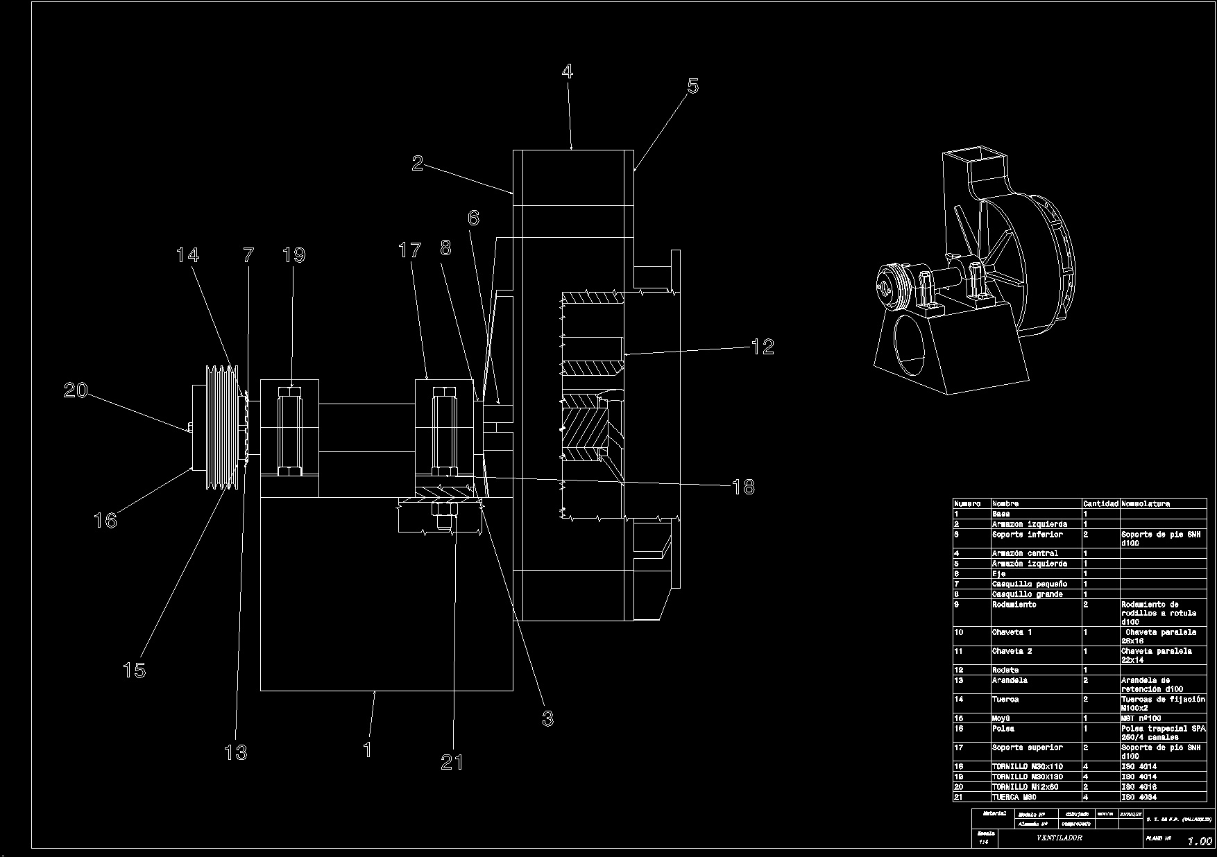 Fan Blower Medium Pressure Dwg Section For Autocad