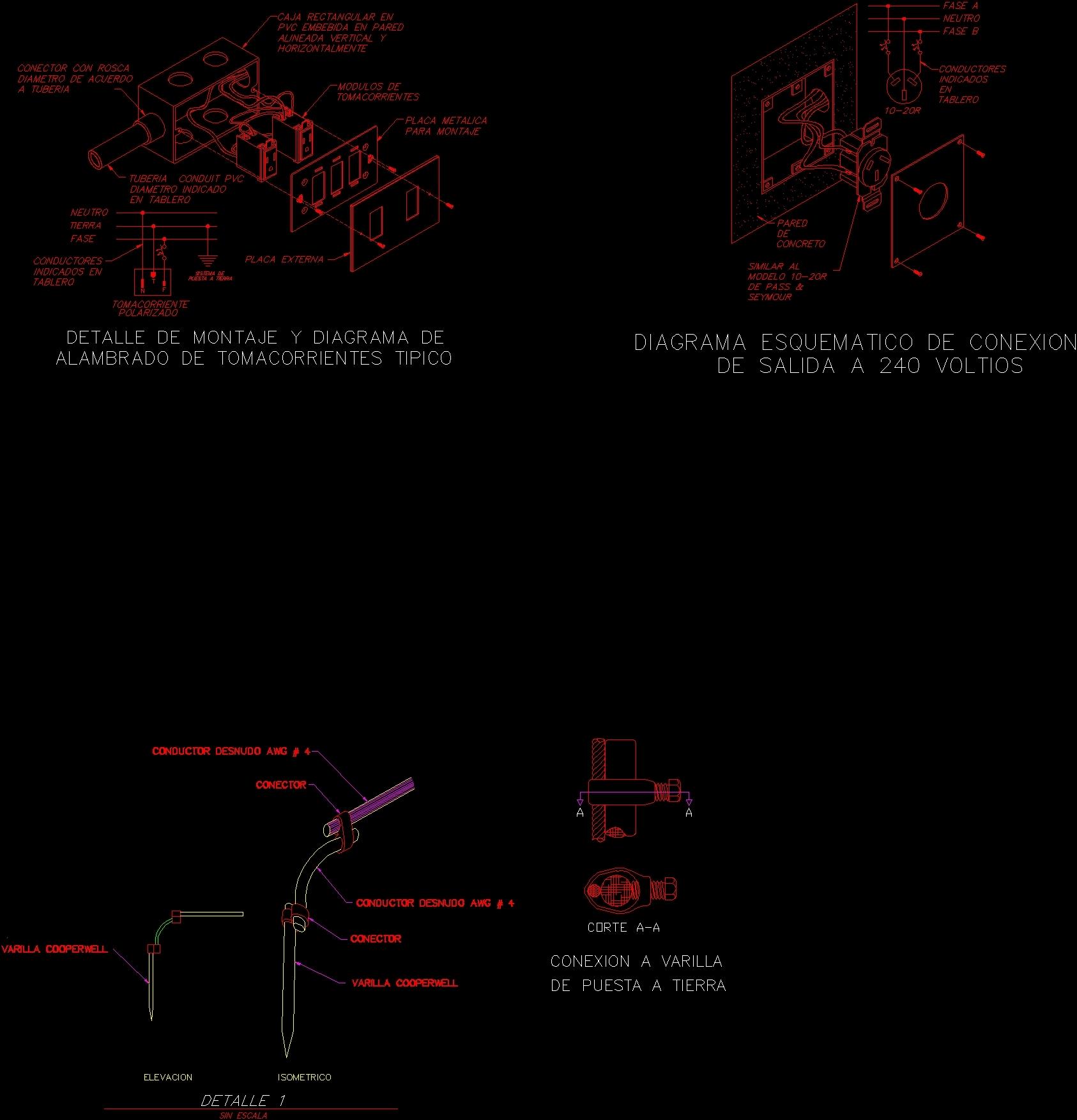 Fuse Box Details DWG Detail for AutoCAD • Designs CAD