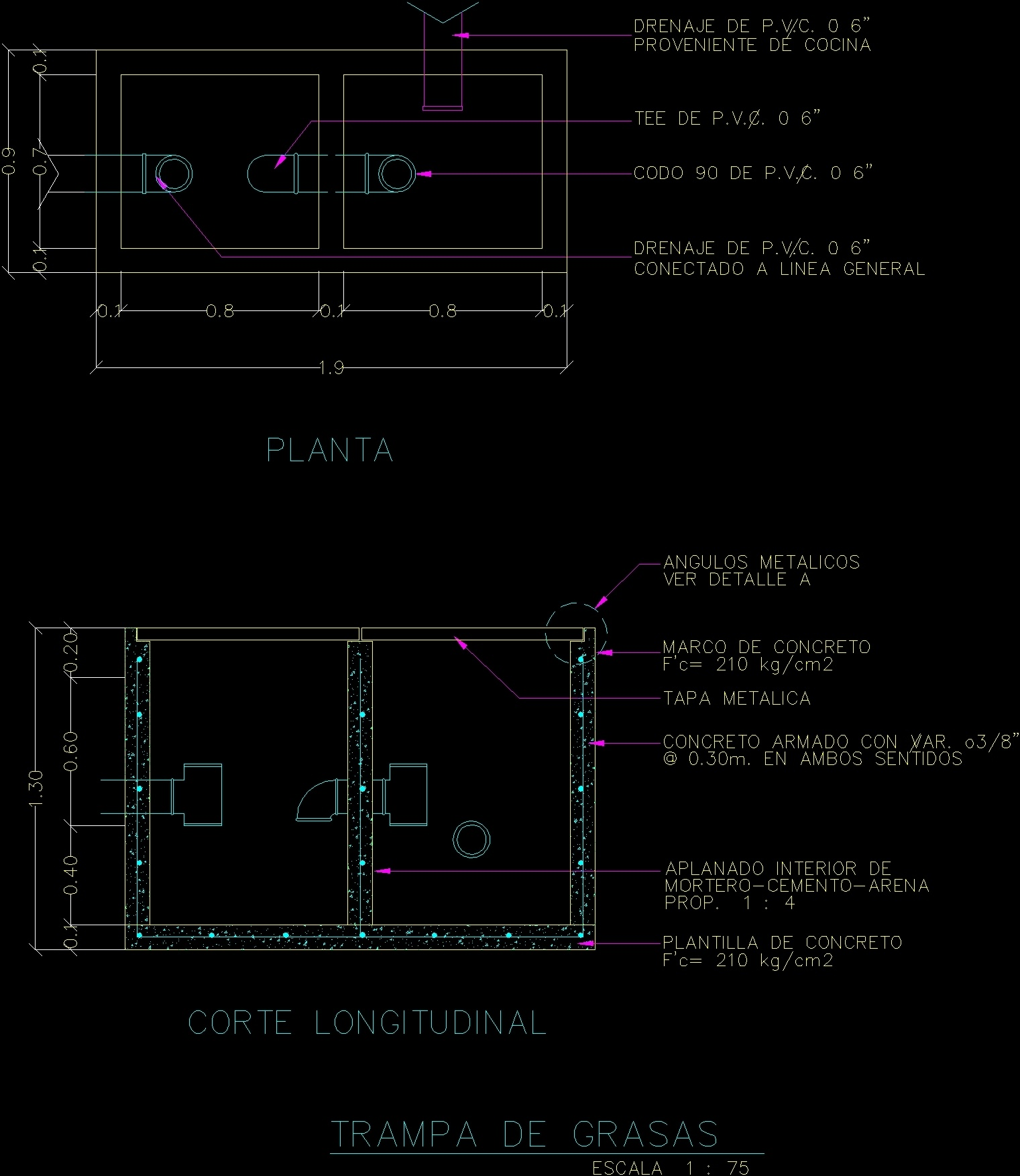 Grease Trap Dwg Block For Autocad Designs Cad