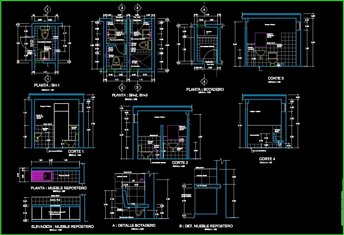 health dwg detail for autocad • designscad ~ Waschbecken Dwg