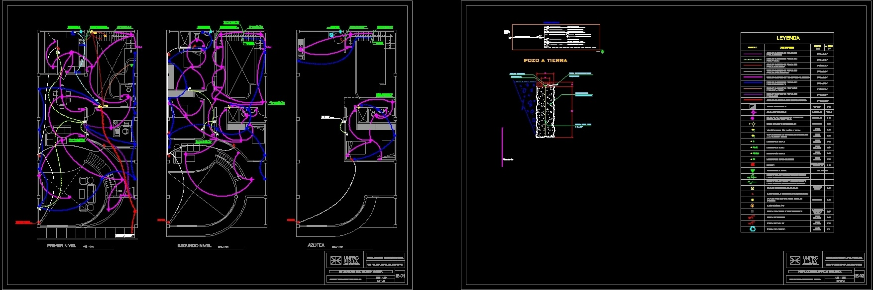 housing electric installations dwg block for autocad