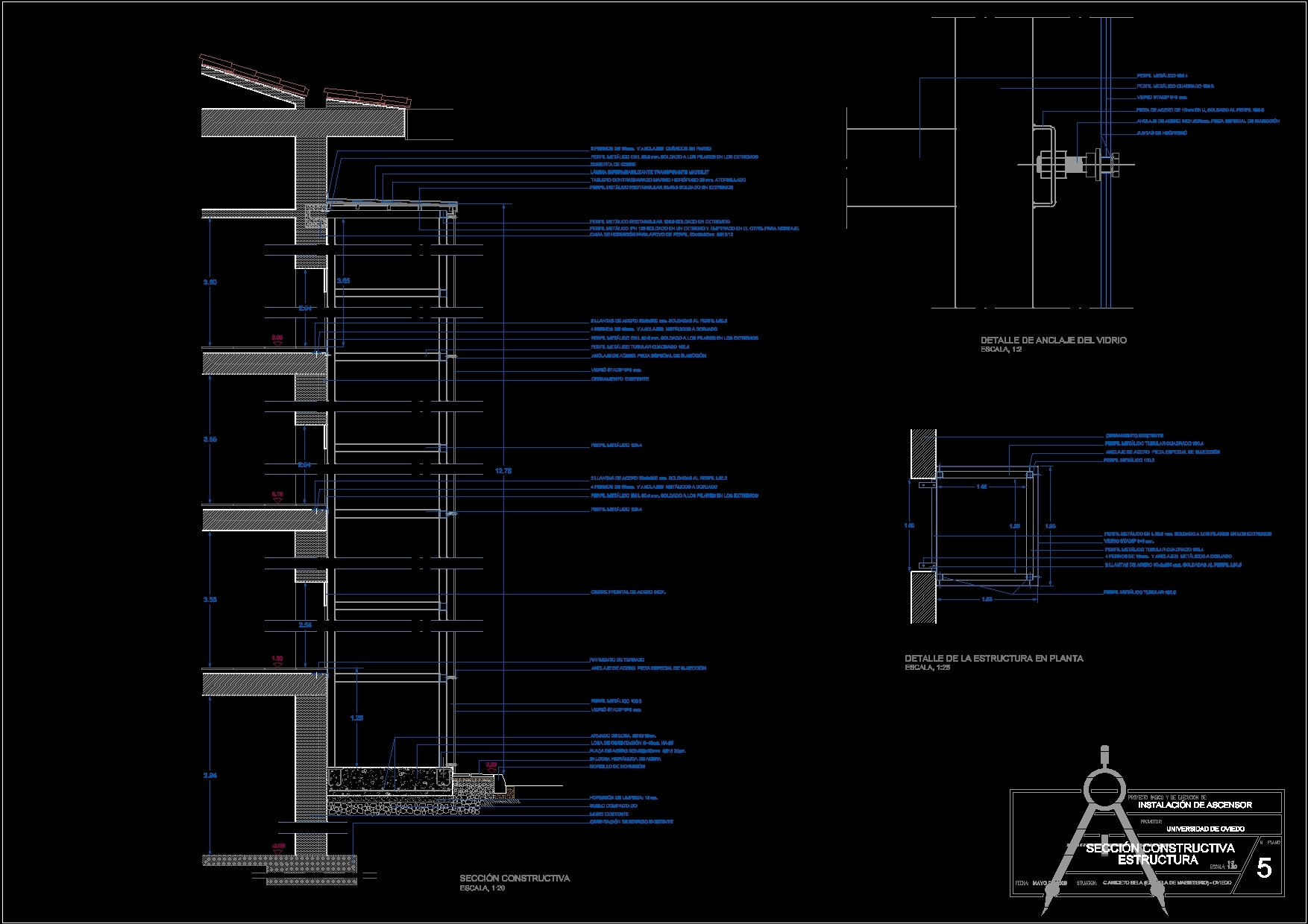 Hydraulic Lift Section : Hydraulic lift construction details dwg section for