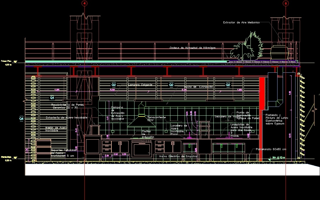 Industrial Kitchen Kitchen Industrial Dwg Block For Autocad