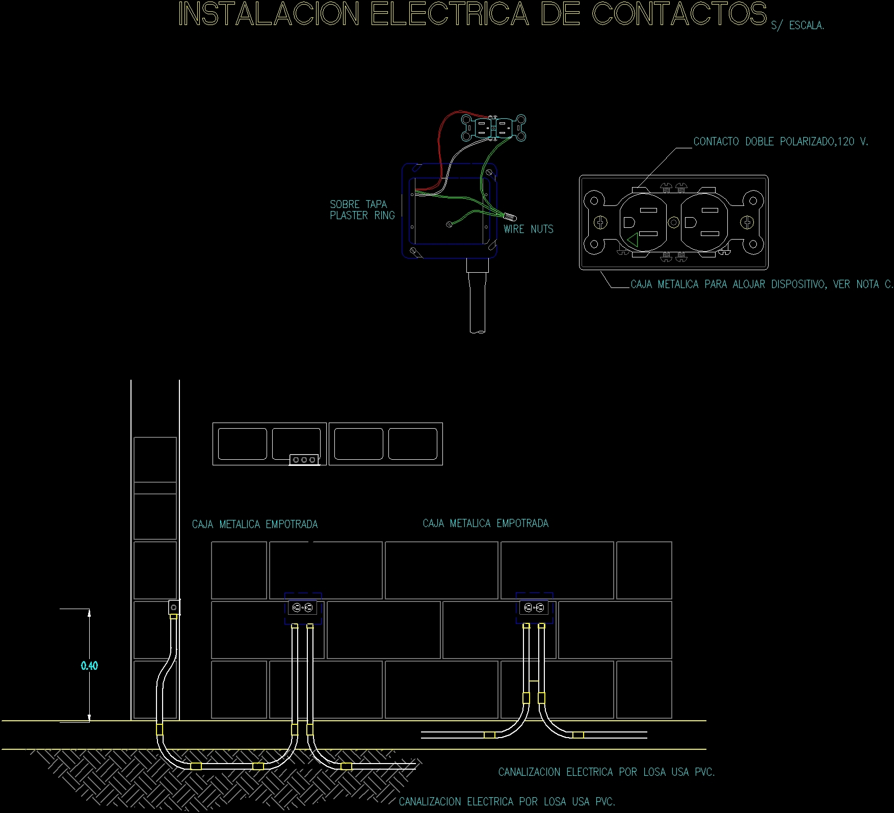 Installation Of Electrical Outlets In A Wall Dwg Detail For Autocad Ac Outlet Wiring Diagram Addition How To Wire Series Additional Screenshots