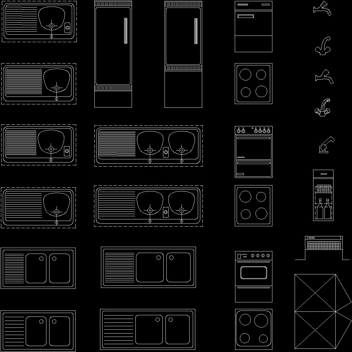 Restaurant Kitchen Layout Autocad: Kitchen Applications Blocks02 DWG Block For AutoCAD