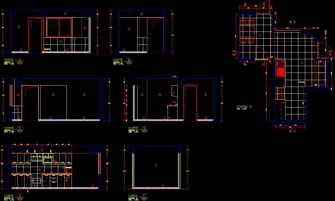 Kitchen Detail Dwg Section For Autocad Designs Cad