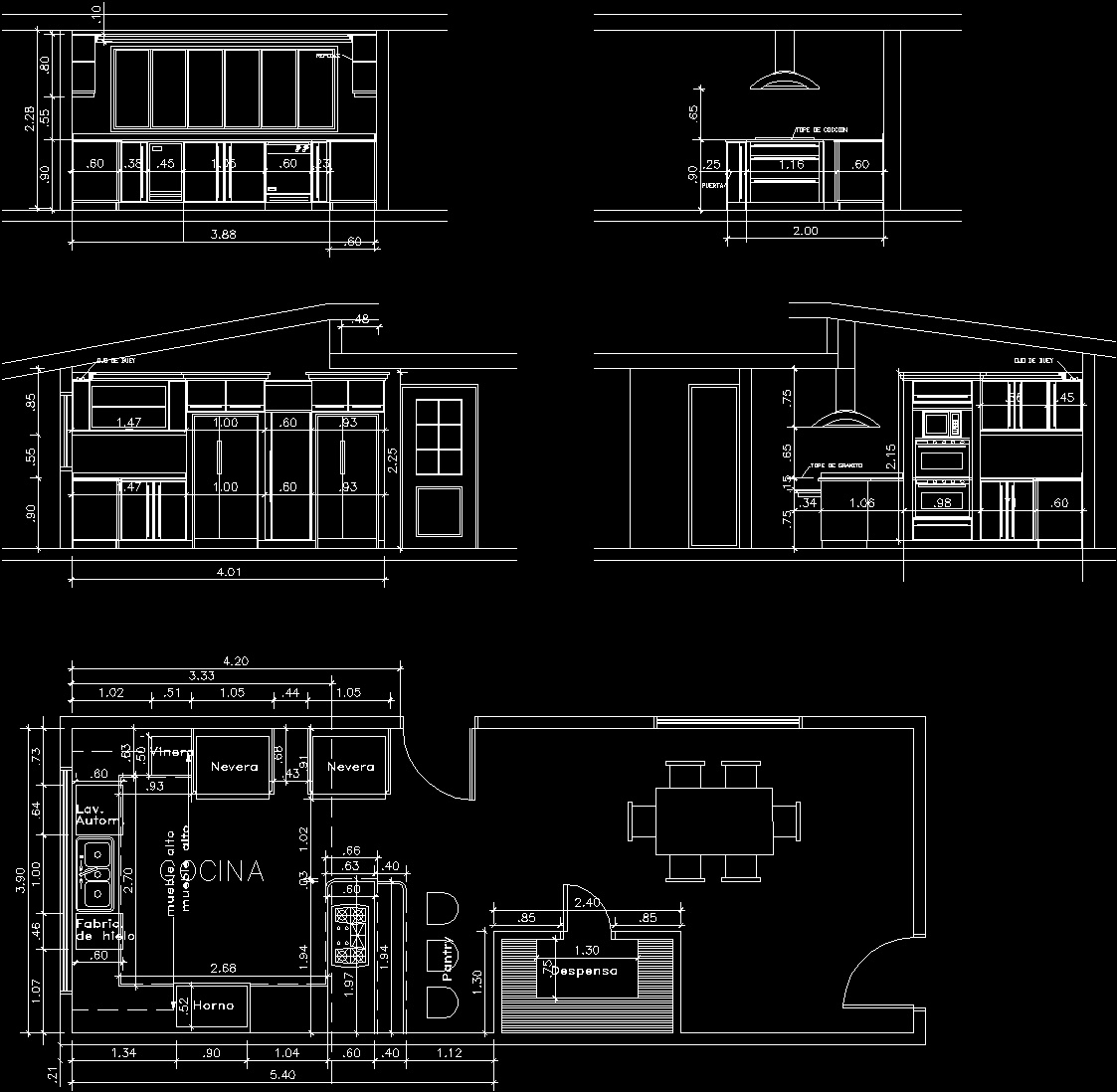 Kitchen Dwg Elevation For Autocad Designs Cad