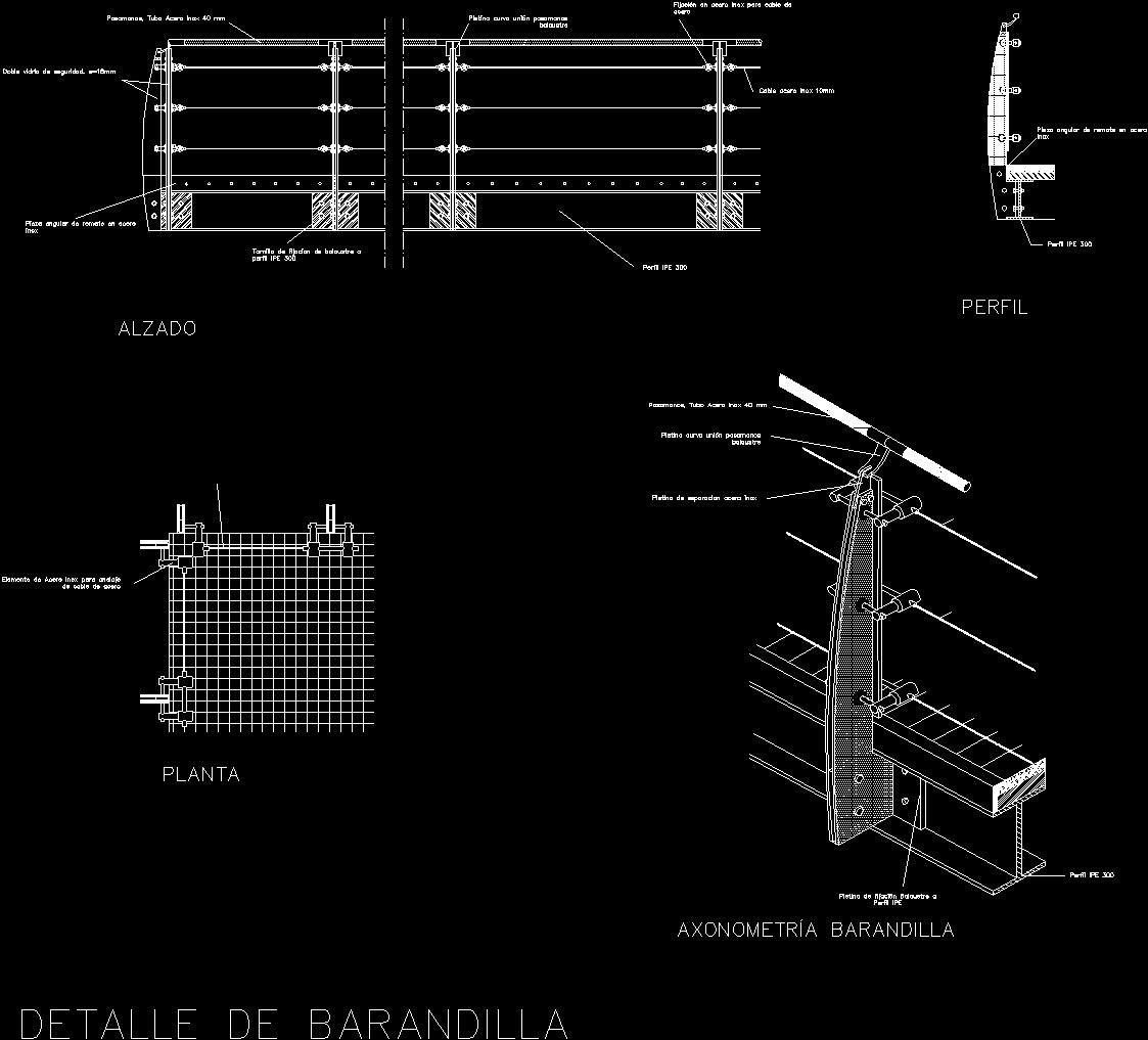 Metal Guardrail Dwg Detail For Autocad Designs Cad