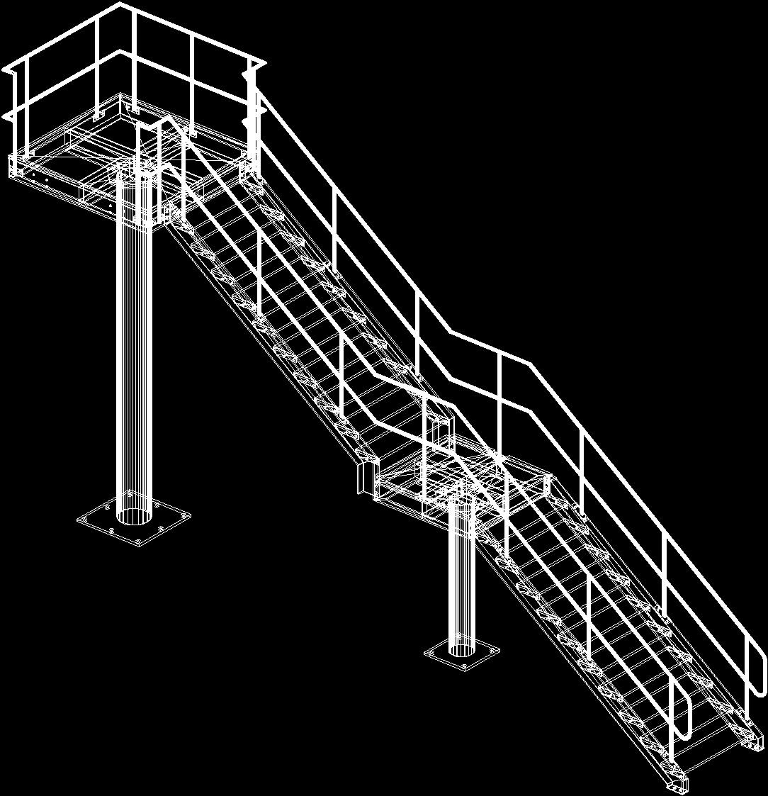 Metal Ladder 3D DWG Model For AutoCAD • Designs CAD