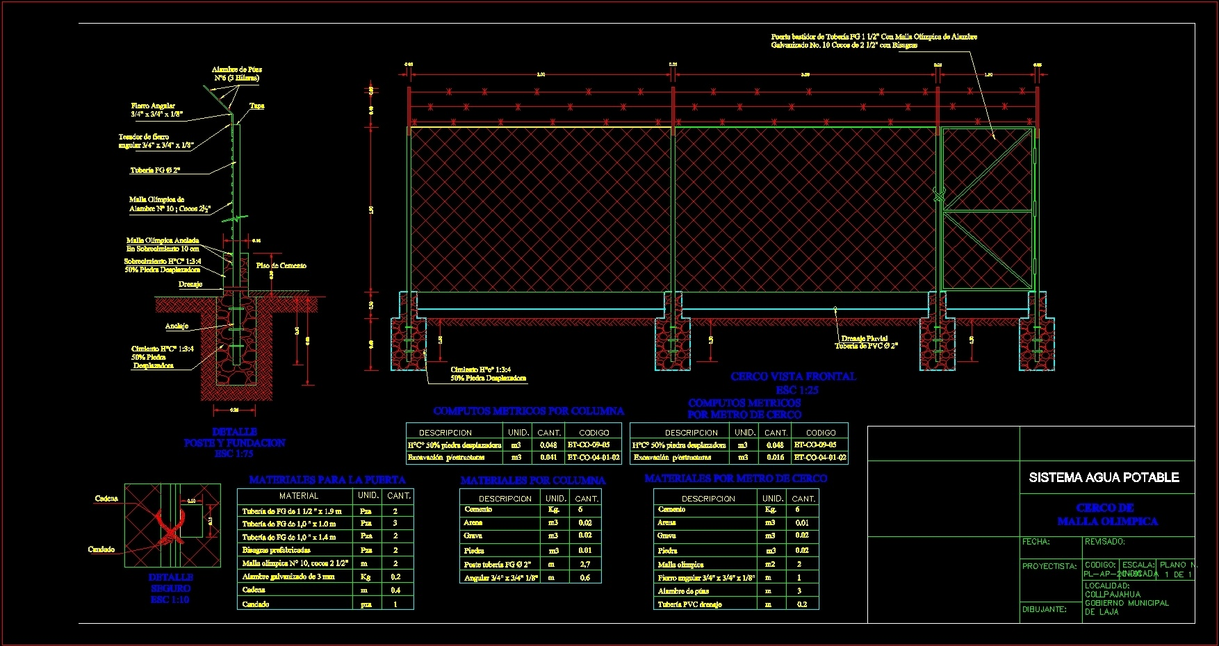 Olympic Mesh Fence Dwg Detail For Autocad Designs Cad