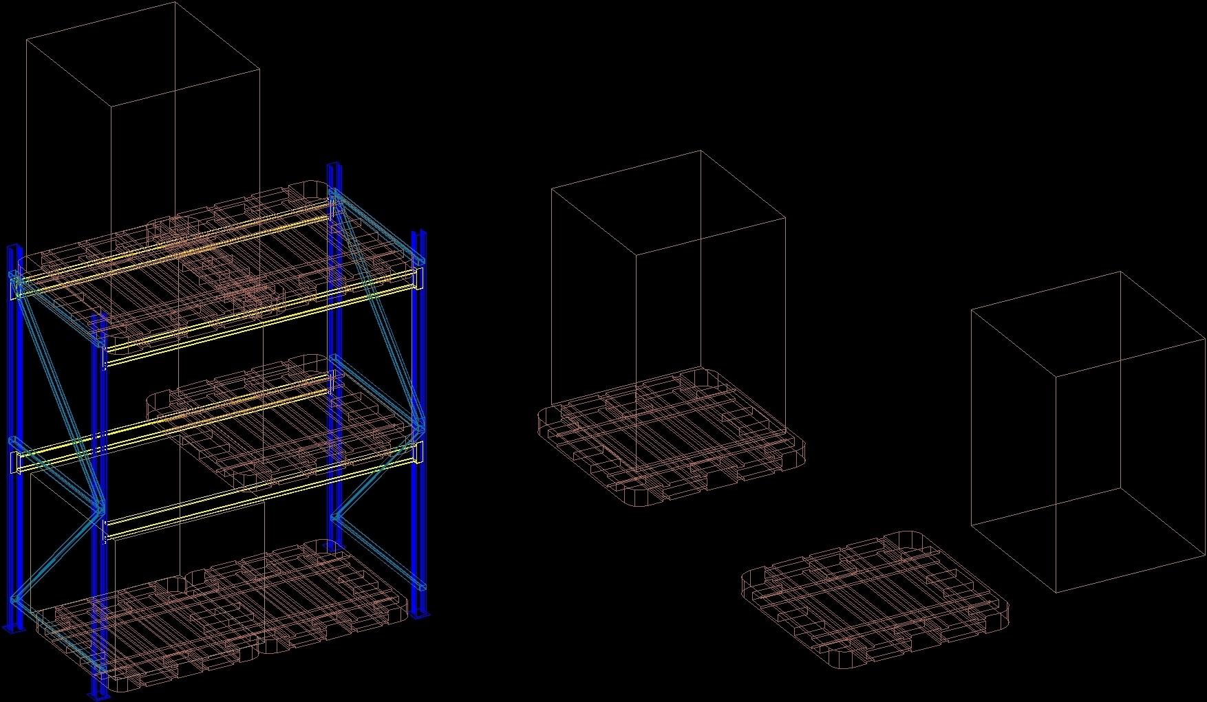 Pallet Rack 3d Dwg Model For Autocad Designs Cad