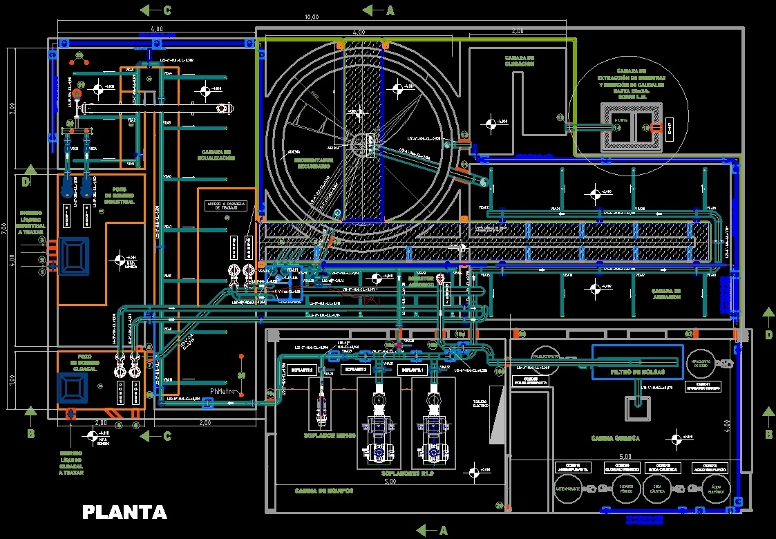 Plant Sewage Treatment DWG Block for AutoCAD • DesignsCAD