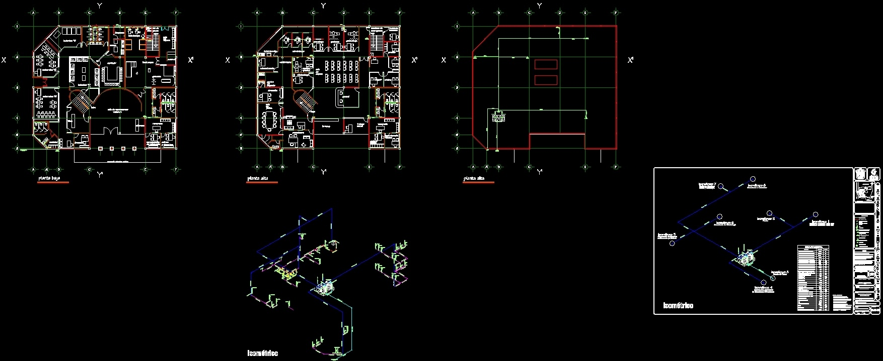 Plumbing Project Dwg Full Project For Autocad Designs Cad # Muebles Gimnasio Dwg