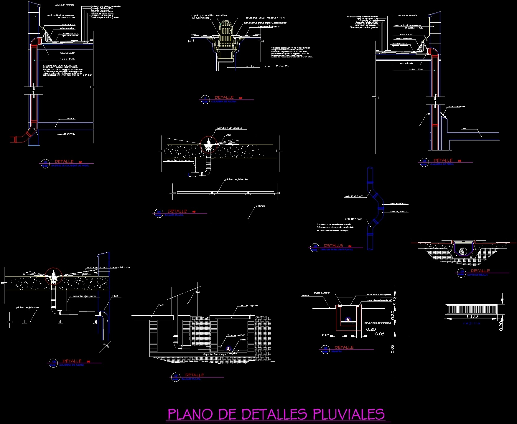 Pluvial Drainage Dwg Detail For Autocad Designs Cad