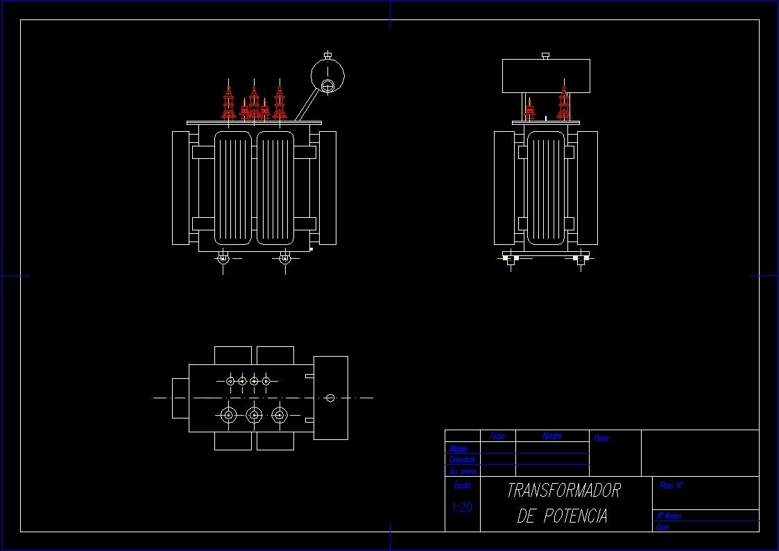 Power Transformer Dwg Block For Autocad Designs Cad