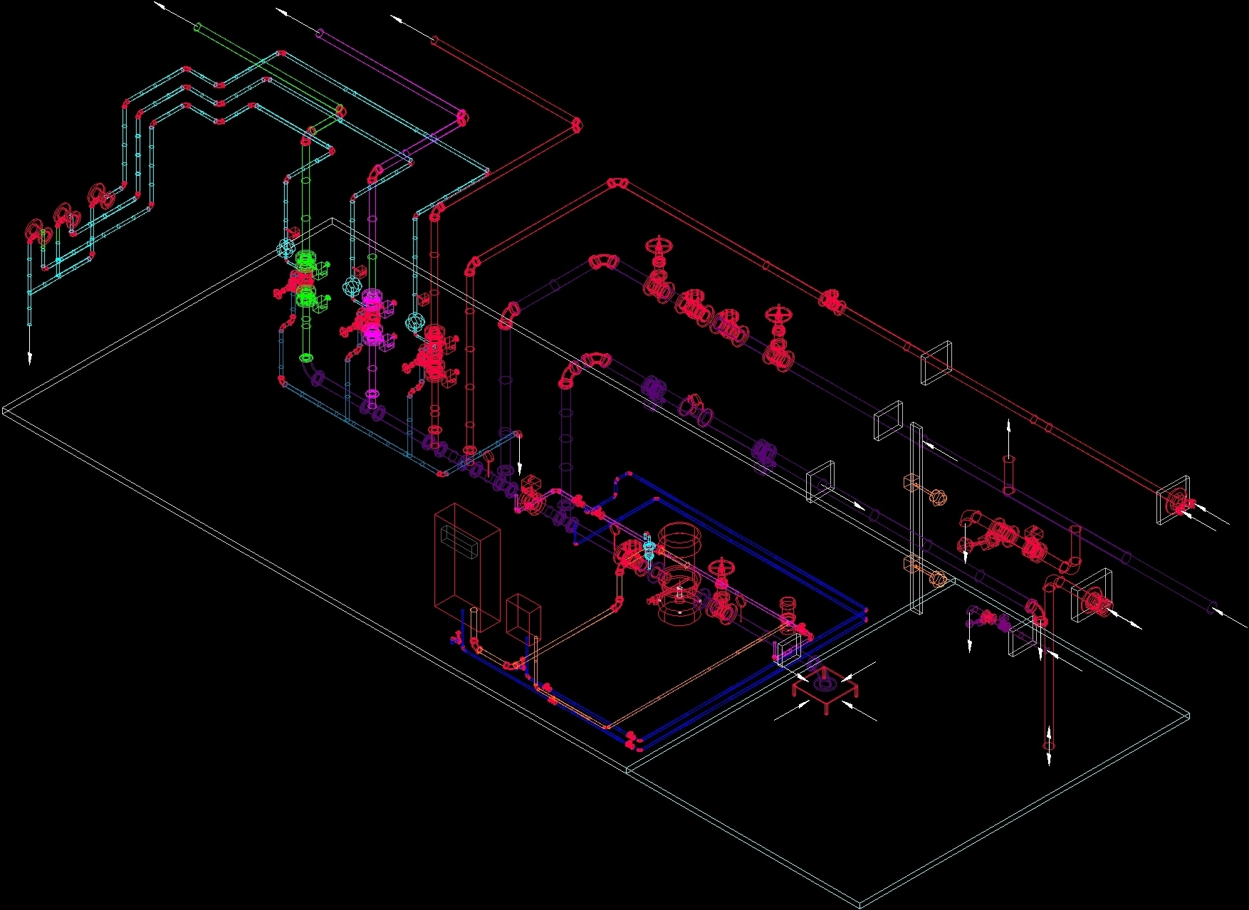 Pump Room 3d Dwg Model For Autocad  U2013 Designs Cad
