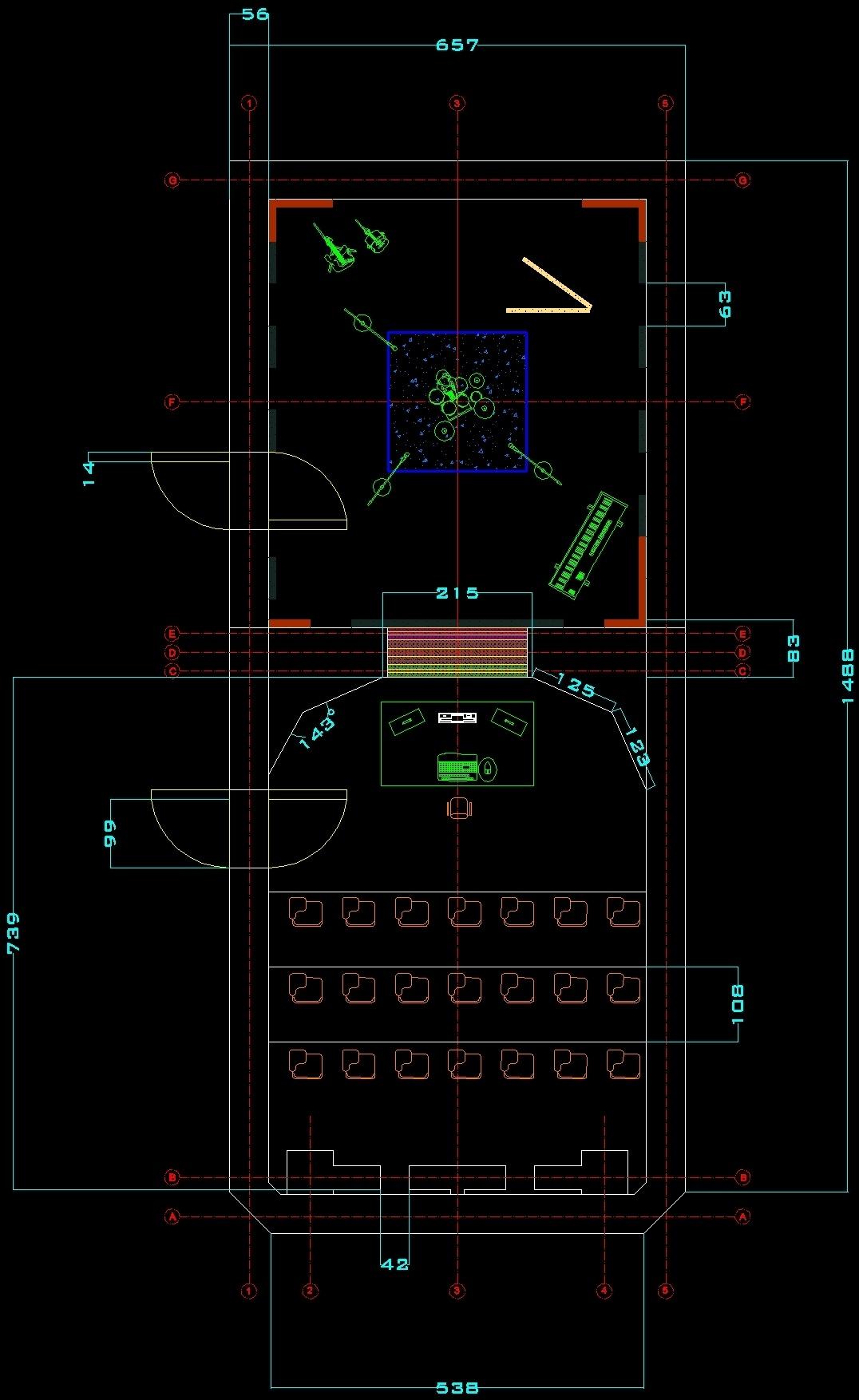 Autocad 3d House Design Software: Recording Studio DWG Block For AutoCAD • Designs CAD