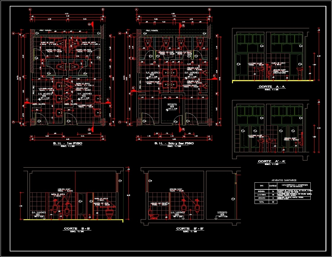Sanitary room bathroom ptblic wc dwg block for autocad for Room design cad