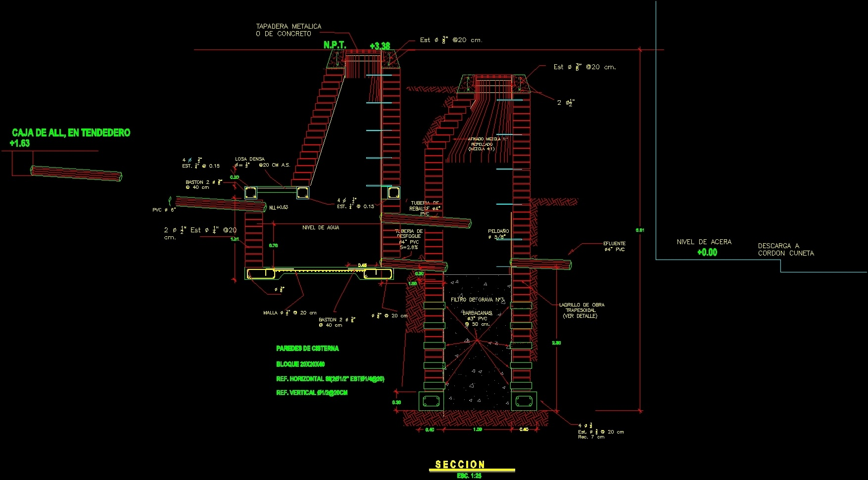 Sewage Soakaway Well Detail Dwg Detail For Autocad