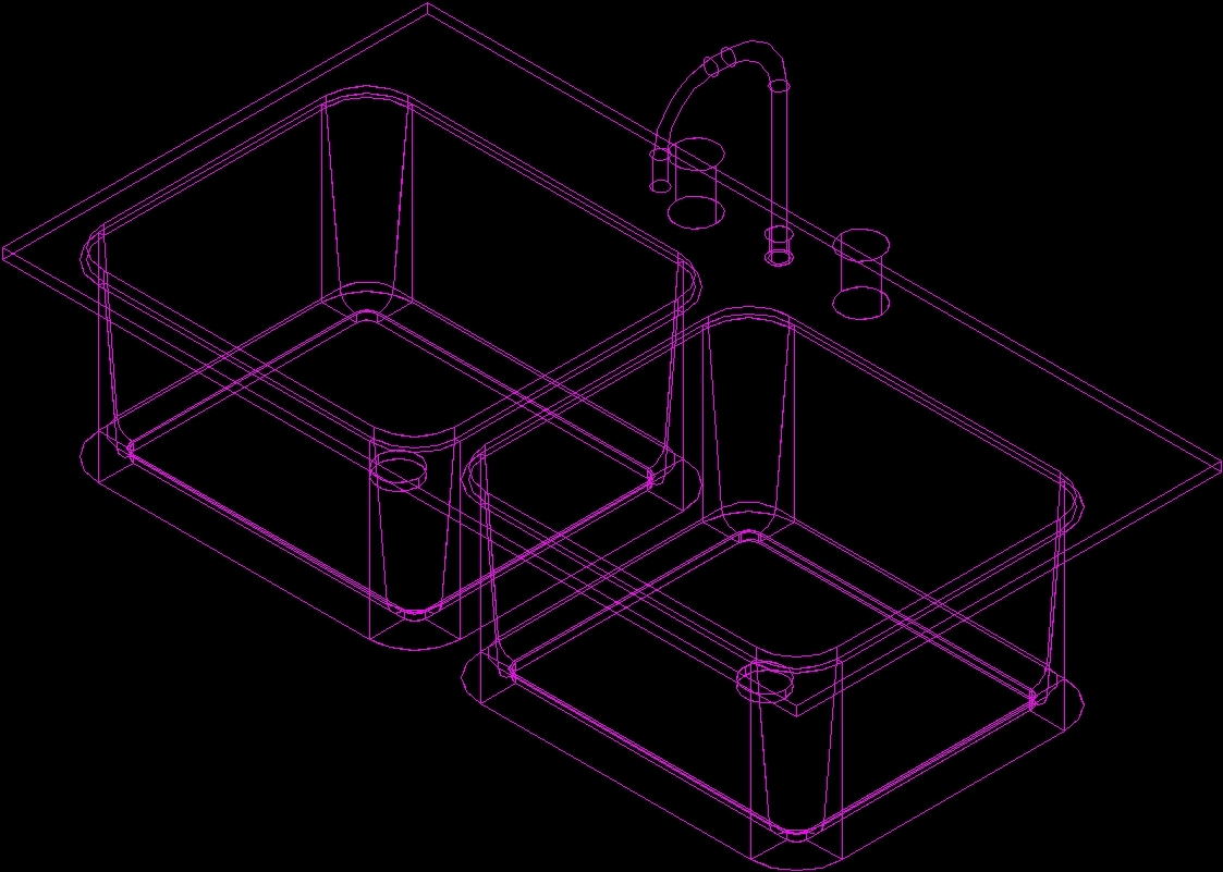 Sink 3d Dwg Model For Autocad Designs Cad