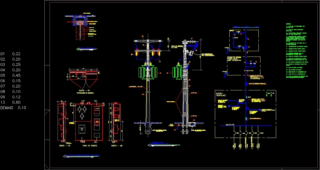 Structure Of Electric Substation Dwg Detail For Autocad