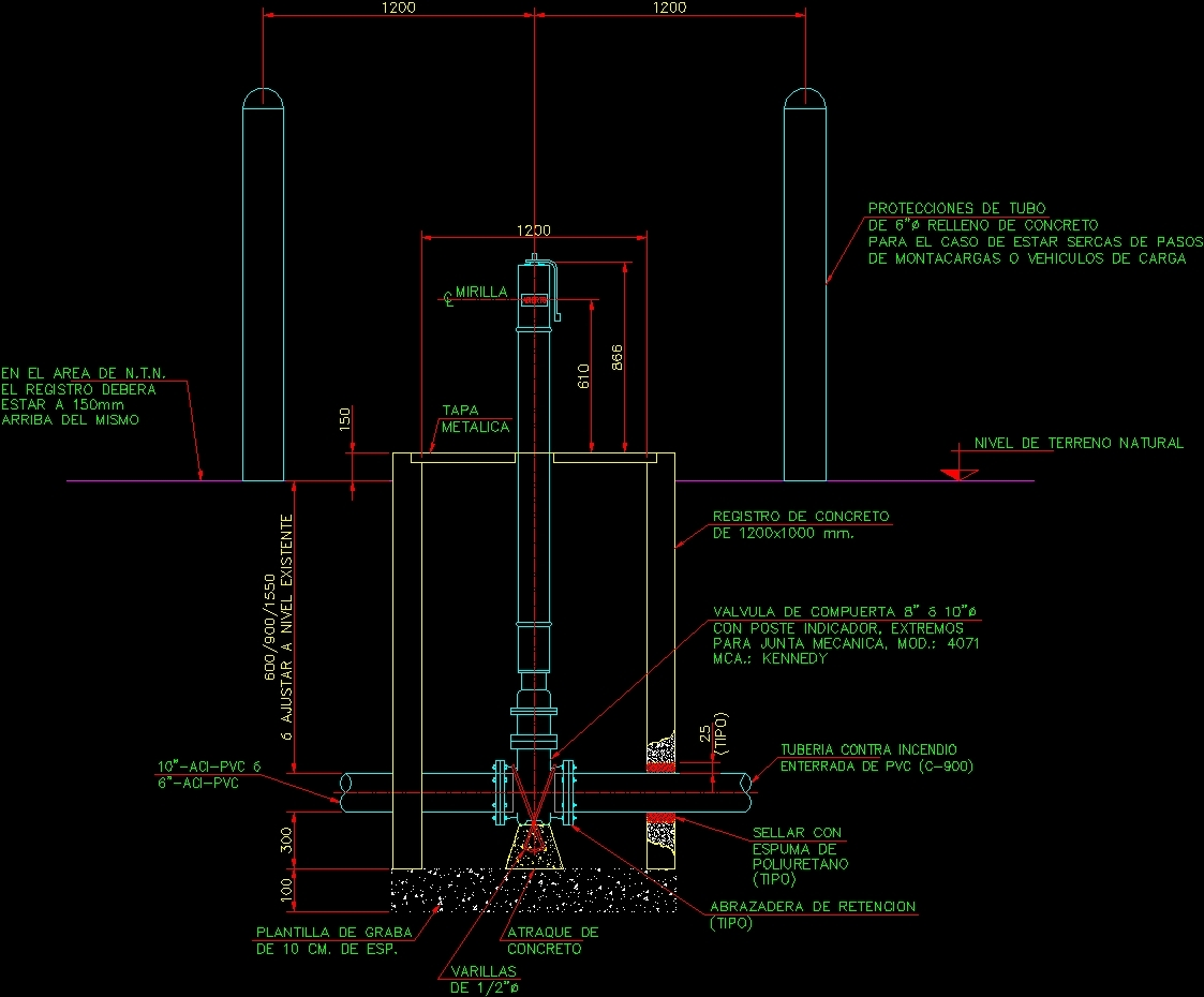 Valve With Sinpost Dwg Block For Autocad Designs Cad