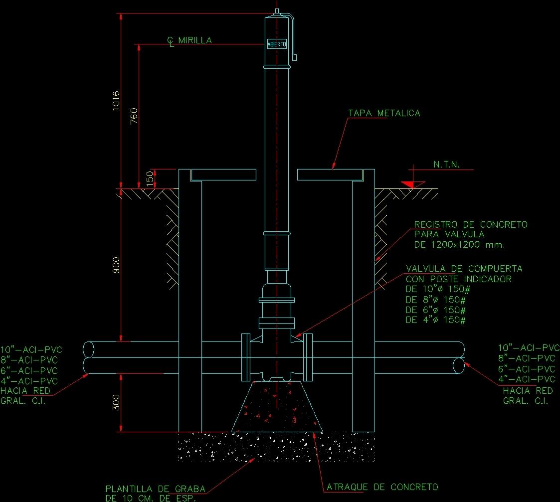 Valve With Sinpost DWG Block for AutoCAD • DesignsCAD