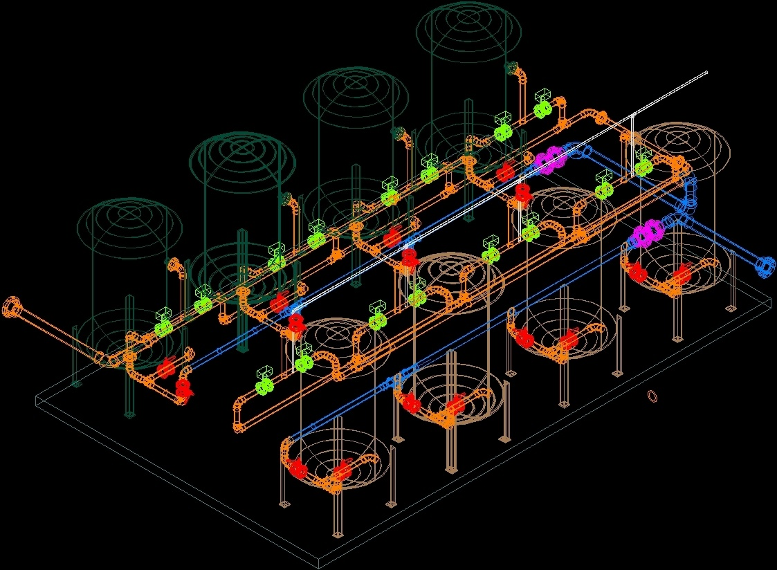 Water treatment plant 3d dwg model for autocad designs cad for Plante 3d dwg