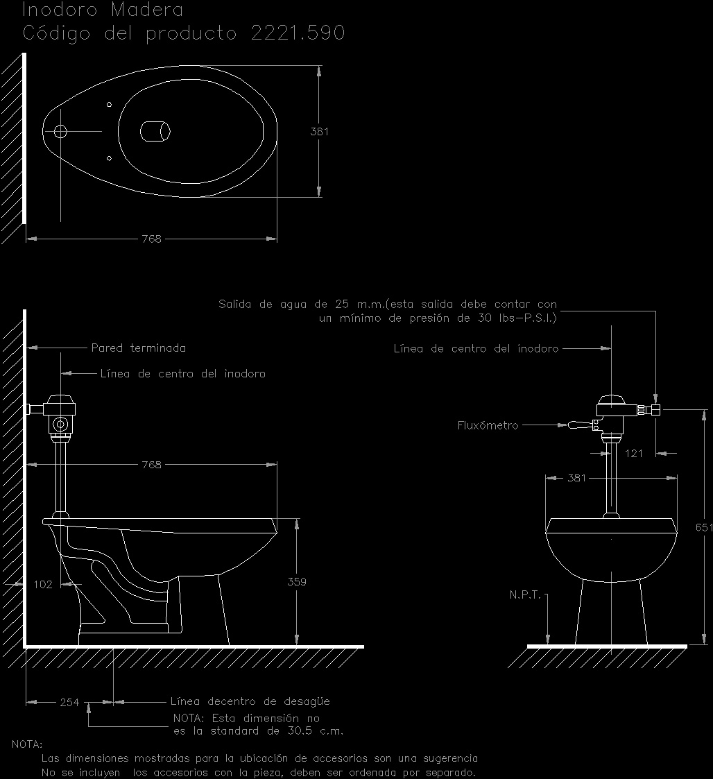 Wc dwg section for autocad designscad for Inodoro dwg