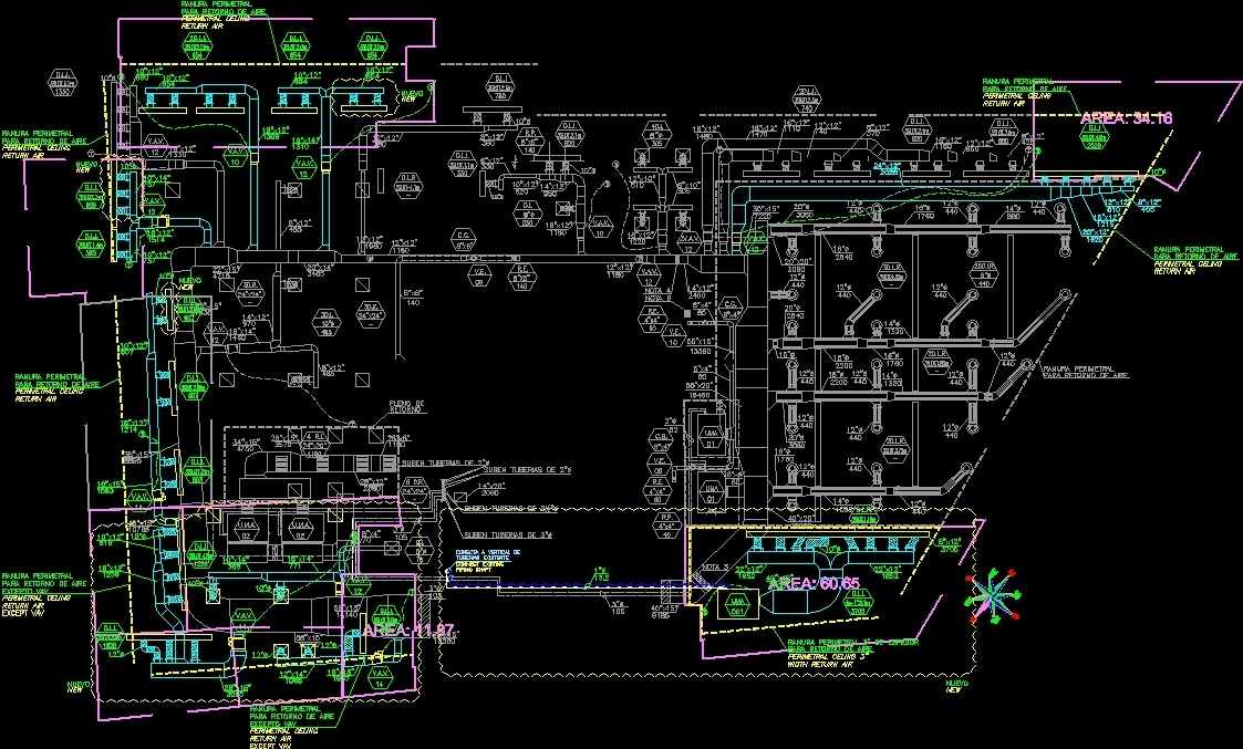 Air Conditioning Group Office Dwg Block For Autocad
