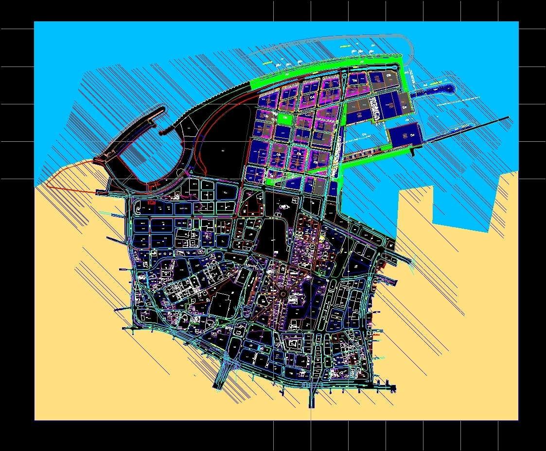 Beirut Maps Dwg Detail For Autocad Designs Cad