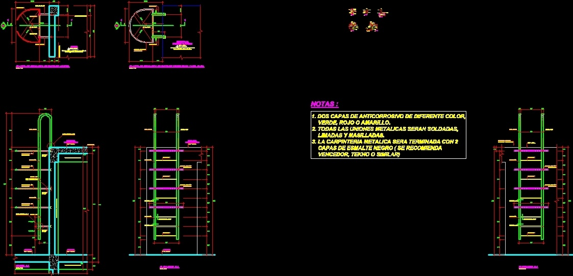 Catwalk Ladder DWG Section for AutoCAD