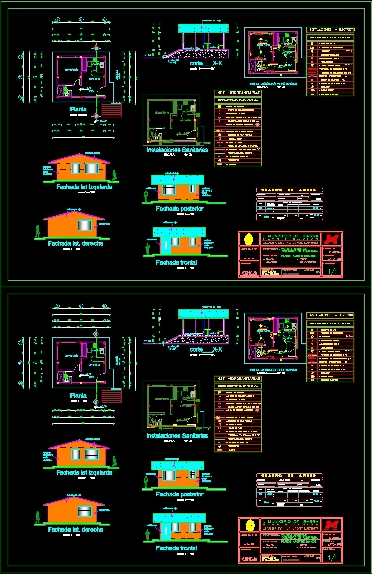 Concierge house dwg block for autocad designscad for House cad file