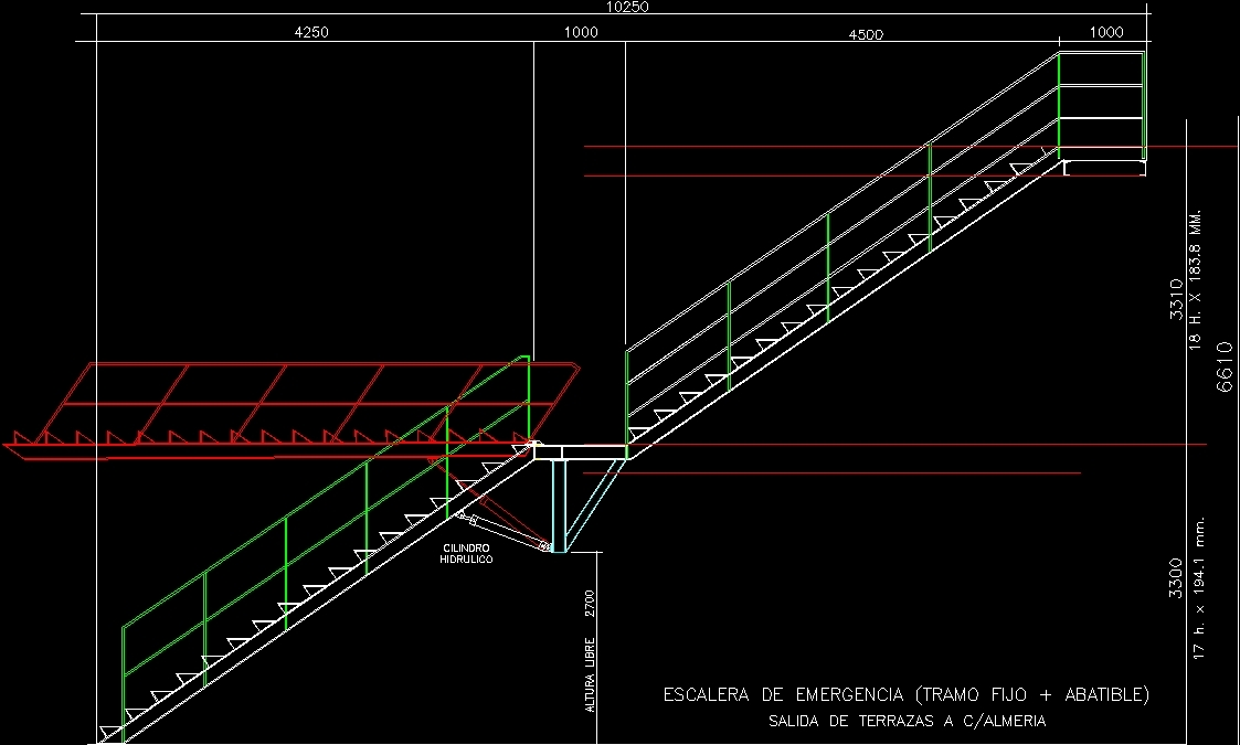 Detail Emergency Stair Dwg Detail For Autocad Designs Cad