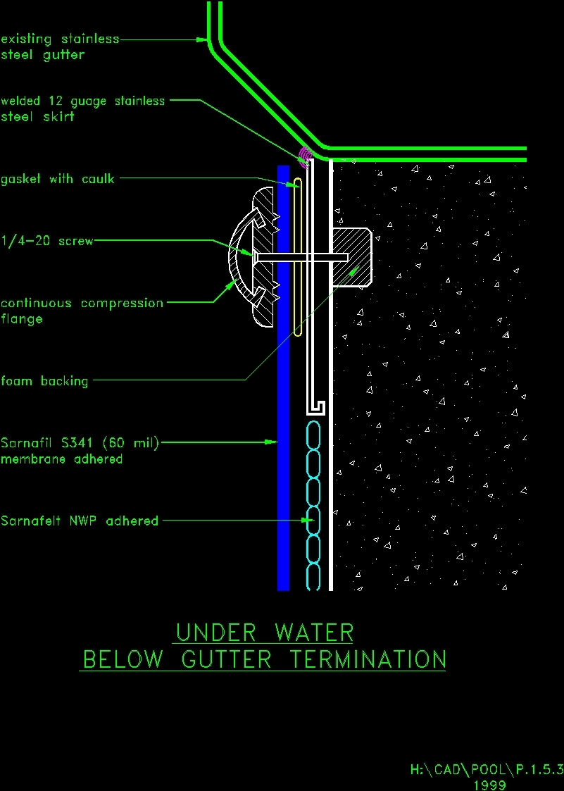 Details of swimming pool dwg detail for autocad designs cad for Swimming pool design xls