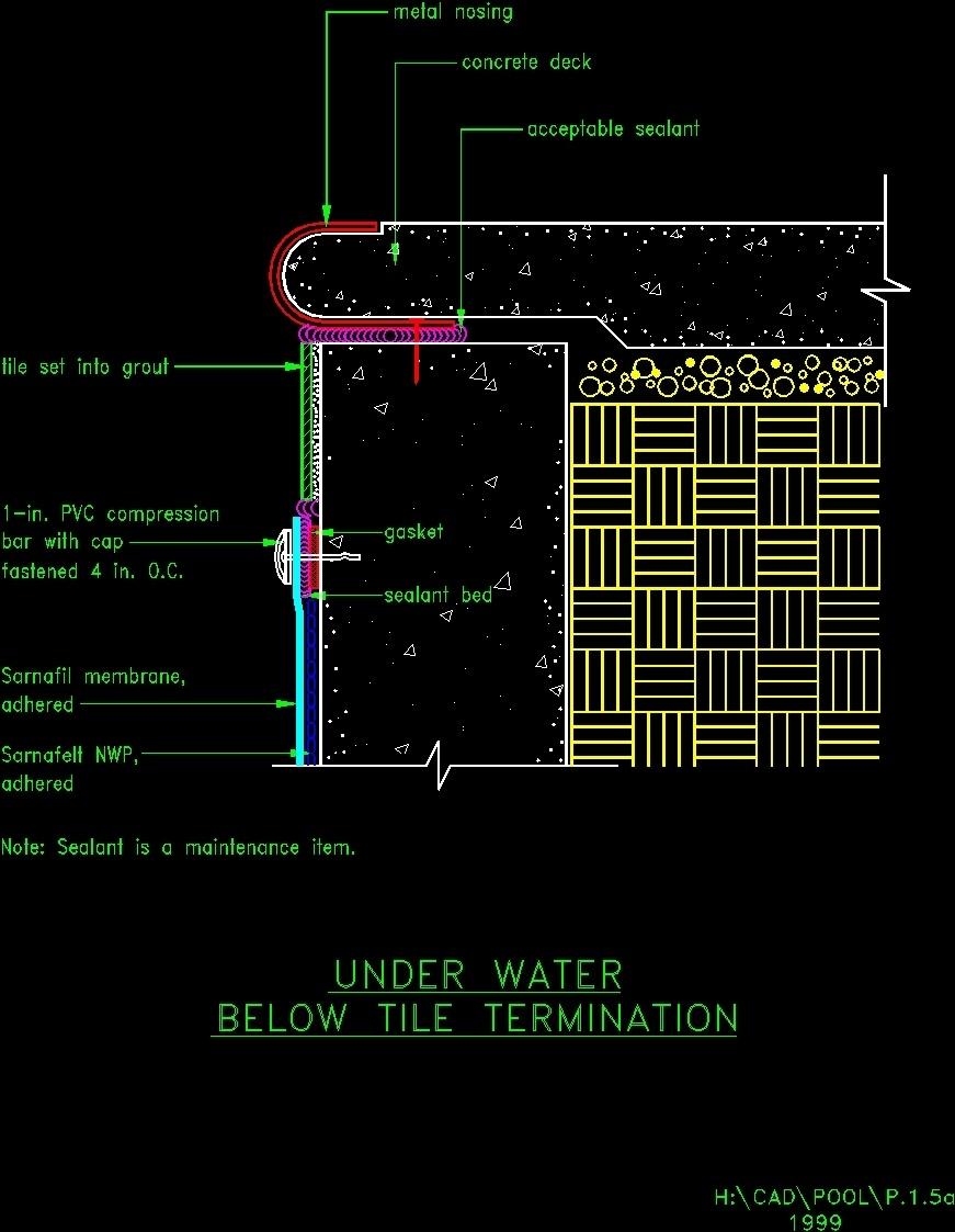 Detalle Piscina Dwg Block For Autocad Designs Cad