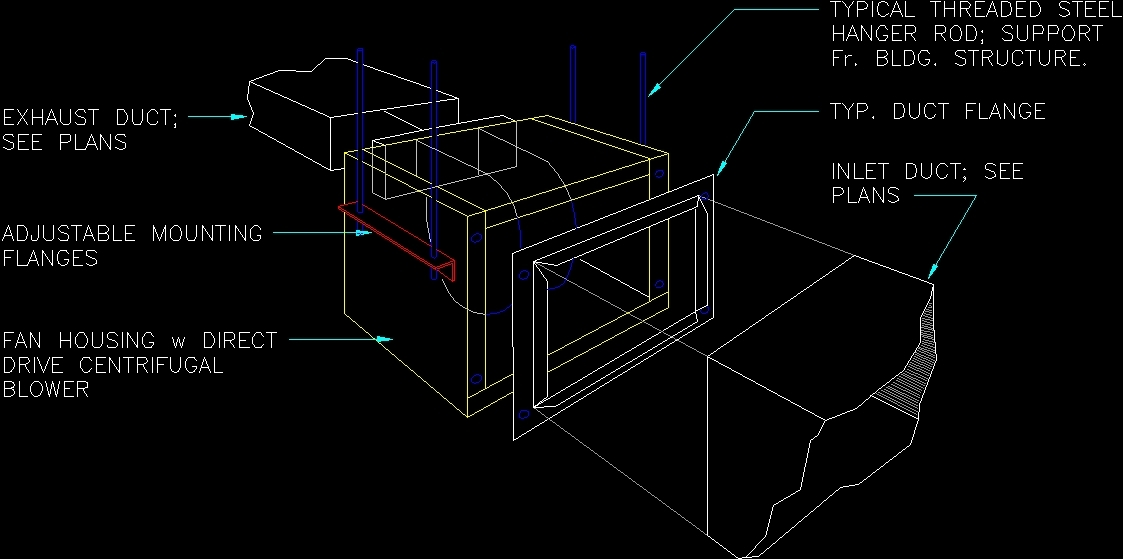 Inline Fan Structure : Exhaust fan inline dwg block for autocad designscad