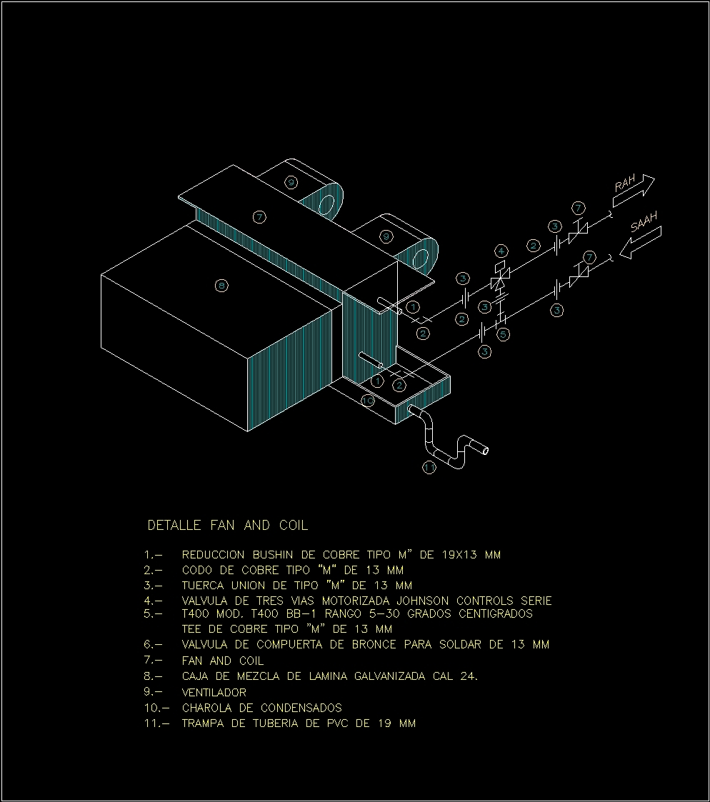 Fan Coil Dwg Block For Autocad Designs Cad
